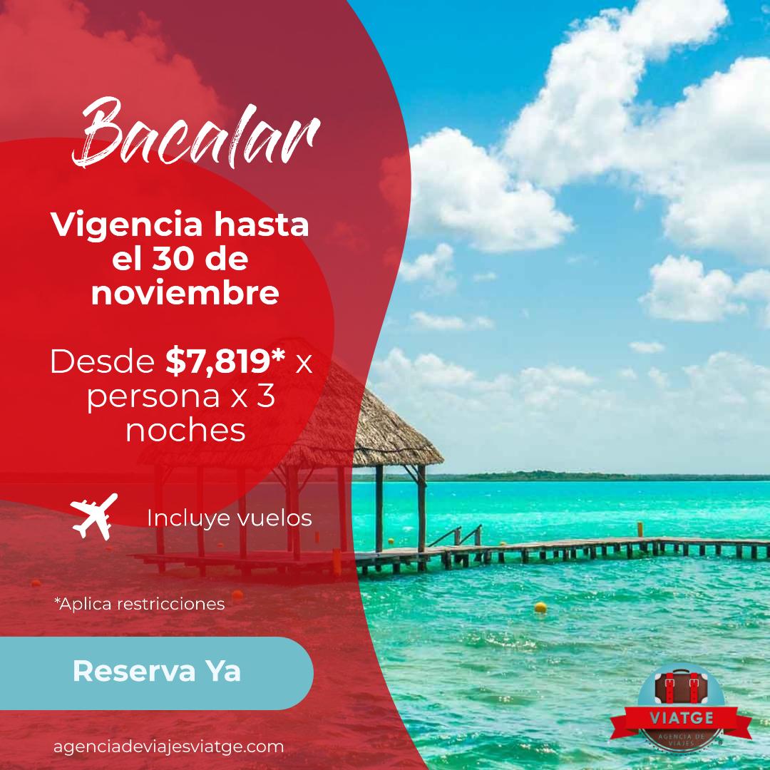 Bacalar con Viatge Agencia de Viajes