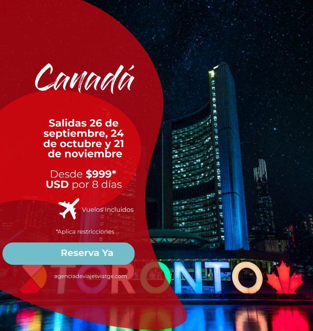 Canadá desde 999* USD
